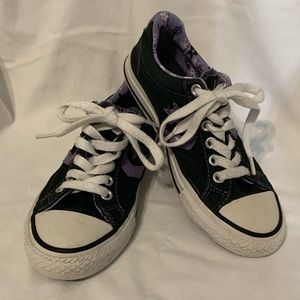 Converse All Star shoes black/purple size 13